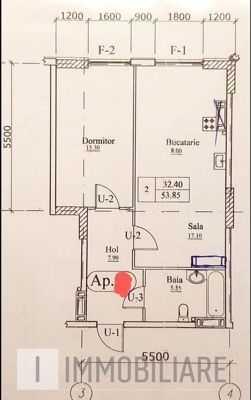 Apartament cu 2 camere, sect. Buiucani, str. Ioana Radu.