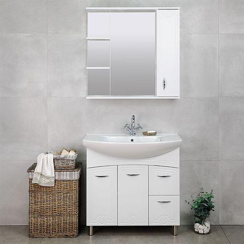 купить Deco One Шкаф-зеркало белый 860 R в Кишинёве