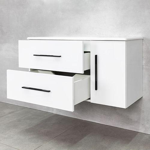 купить Suprem Шкаф белый black с умывальником Amanda 1000 в Кишинёве