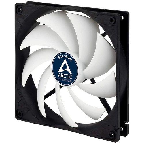 купить Case/CPU FAN Arctic F14 Silent, Black, 140x140x27 mm, 3-pin, 800rpm, Noise 0.08 Sone (@ 800 RPM), 46 CFM (78 m3/h) (ACFAN00217A) в Кишинёве