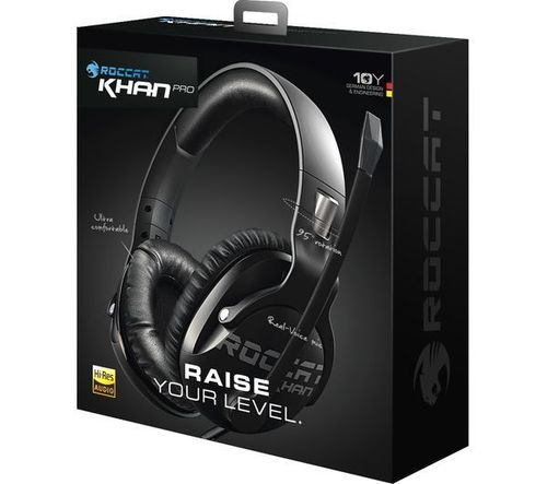 купить ROCCAT Khan Pro / Competitive High Resolution Gaming Headset, Noise-cancelling Microphone (rotatable), On-headset Remote, 50mm neodymium speaker units, Supreme comfort (high-comfort, low-weight design), 3.5mm jack, Black в Кишинёве