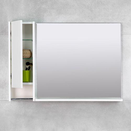 купить Selena Шкаф-зеркало белый структурный 1000 L в Кишинёве