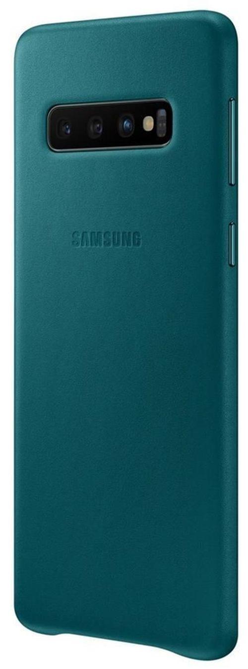 cumpără Husă telefon Samsung EF-VG973 Leather Cover S10 Green în Chișinău