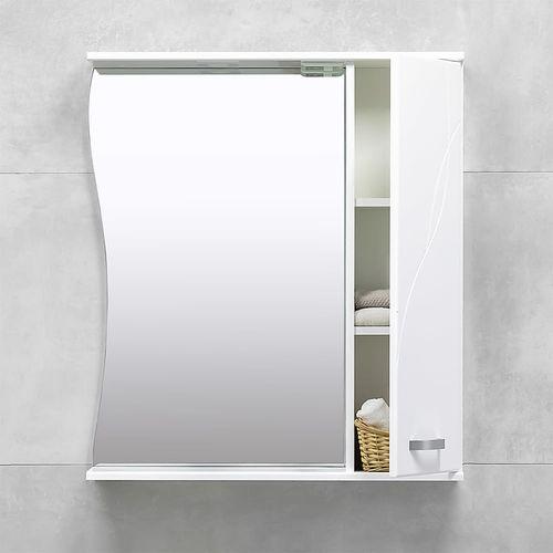 купить Interio Шкаф-зеркало белое 750 R в Кишинёве