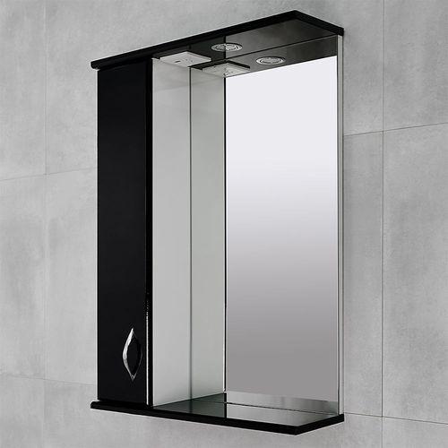 купить Aris Шкаф-зеркало черный глянец  600 L в Кишинёве