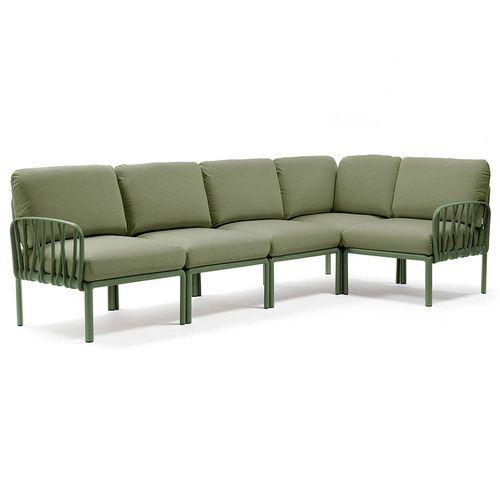 купить Диван с подушками Nardi KOMODO 5 AGAVE-giungla Sunbrella 40370.16.140 (Диван с подушками для сада и терас) в Кишинёве
