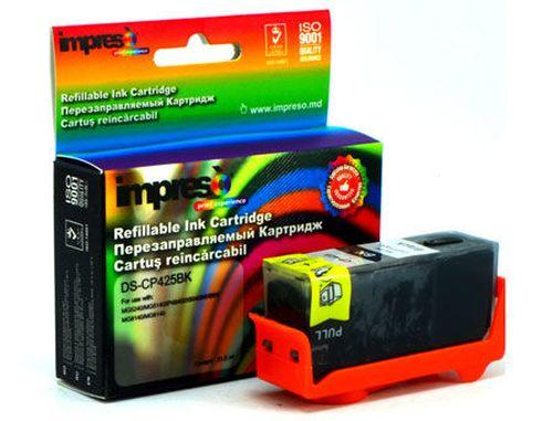 купить Impreso IMP-DS-CP425BK Black Refillable Canon iP4840/4940/ MG5140/5240/ 5340/6140/ 6240/8140/ 8240/MX714/ 884/894/ iX6540, w/chip (18ml) (cartus/картридж) в Кишинёве