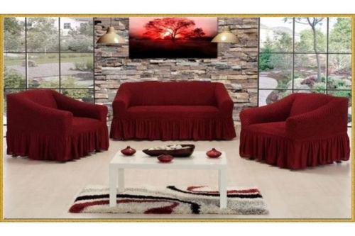 """купить Чехлы на диван и два кресла """"AltinKoza"""", Бордо, 68% хлопок 32% полиэстер в Кишинёве"""