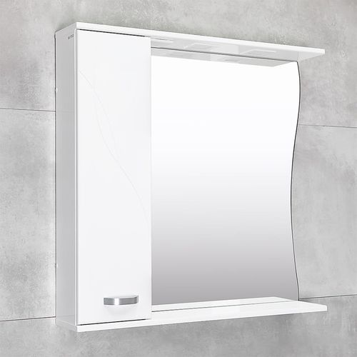 купить Шкаф-зеркало Interio белое про 870 L в Кишинёве