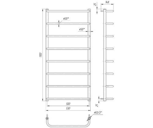 Стандарт HP 1100x530/500