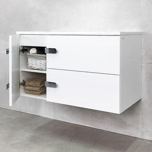 купить Шкаф Suprem белый про с умывальником Amaris 900 Подвесной в Кишинёве