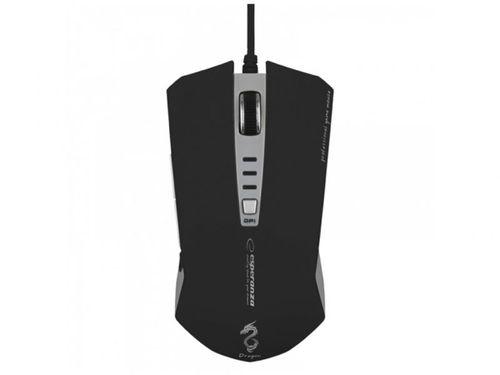 cumpără Mouse Esperanza DRAGON EM122K Optical Mouse for professional game players, 6D, 800/1200/2400 DPI, illuminated, USB, Black/Grey în Chișinău