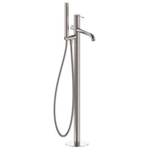 BRENTA смеситель для ванны отдельностоящий, никель, 35 мм (ванная комната)
