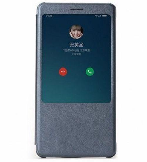 купить Xiaomi Lether Smart Display Case Gray for Xiaomi Redmi Note 4 в Кишинёве
