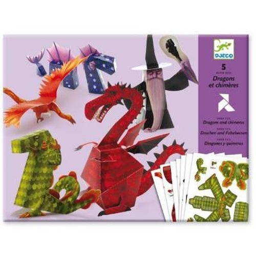 """купить Художественный набор оригами """"Драконы"""", DJECO в Кишинёве"""