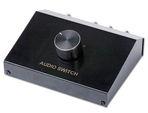 купить Gembird DSA-4 4-way Audio signal input manual box, Переключатель аудио сигналов в Кишинёве