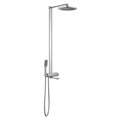 SMART CLICK система душевая для ванны с термостатом, хром (ванная комната)