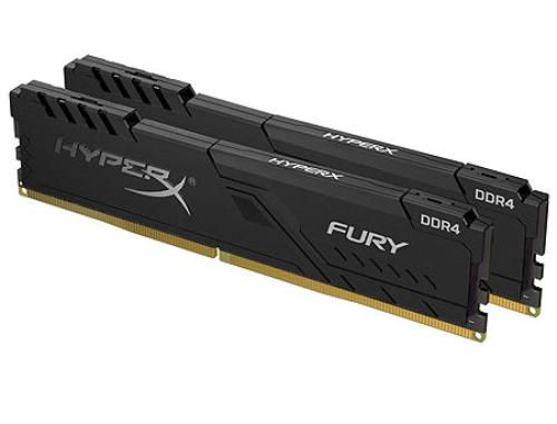 купить 16GB DDR4 Dual-Channel Kit Kingston HyperX FURY Black HX432C16FB3K2/16 16GB (2x8GB) DDR4 PC4-25600 3200MHz CL16, Retail (memorie/память) в Кишинёве
