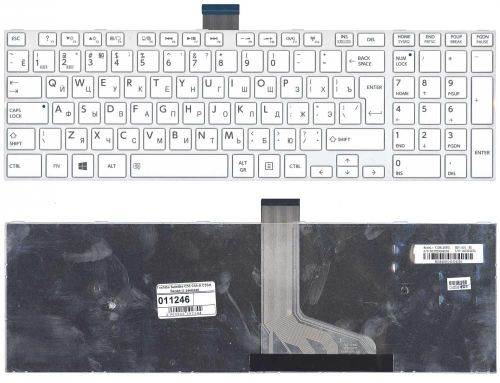 купить Keyboard Toshiba Satellite C50-A C50D-A C50T-A C55-A C55D-A C55T-A C50DT-A ENG. White в Кишинёве