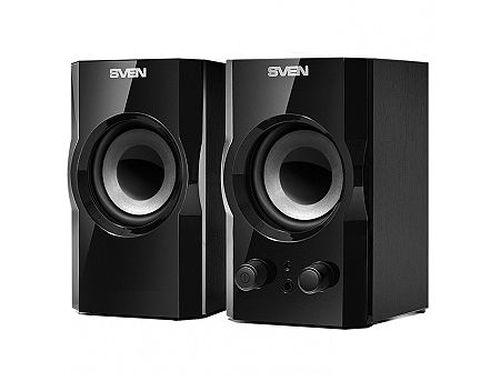 купить Active Speakers SVEN SPS-606 Black, RMS 6W, 2x3W, (lemn/дерево) (boxe sistem acustic/колонки акустическая сиситема) в Кишинёве