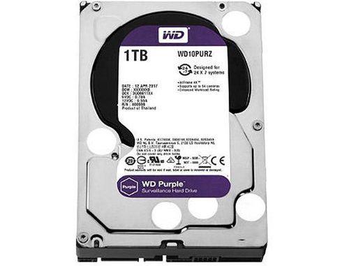 "купить 3.5"" HDD 1TB Western Digital Purple (Surveillance HDD) WD10PURZ, 5400rpm, SATA3 6GB/s, 64MB (hard disk intern HDD/внутренний жесткий диск HDD) в Кишинёве"