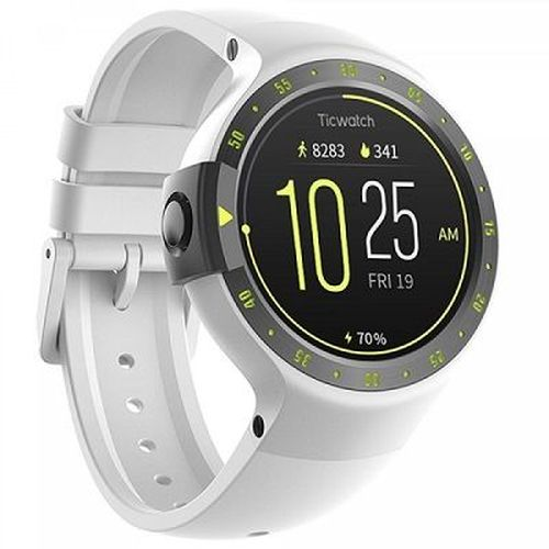 """cumpără Mobvoi  Ticwatch S  Glacier White, 1.4"""" OLED Touch Display, Wear OS by Google, 512MB/4GB, GPS, Time, Mic/Speaker for incoming calls, Heart Rate, Steps, Alarm, Distance Display, Average Daily Steps, Weather, Notifications, IP67, 48Hrs+, BT4.1, 45.5g în Chișinău"""