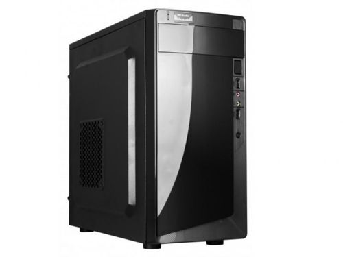 купить HPC D-06  mATX Case, (500W, 24 pin, 2xSATA, 12cm fan), 2xUSB2.0 / HD Audio, Shiny Black в Кишинёве