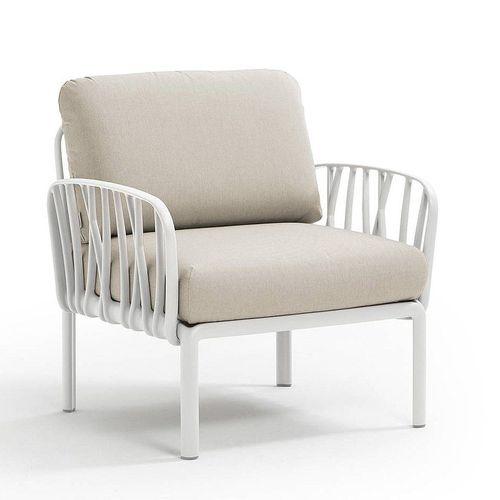 купить Кресло с подушками c водоотталкивающей тканью для сада и терас Nardi KOMODO POLTRONA BIANCO-TECH panama 40371.00.131 в Кишинёве