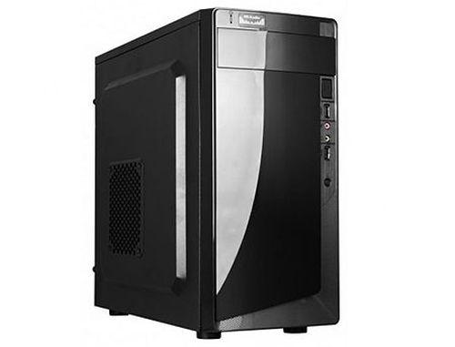 cumpără Case Miditower mATX HPC D-06 Shiny Black, 500W, 12cm fan, 24 pin, 2xSATA cables, 2xUSB 2.0 & Audio (carcasa/корпус) în Chișinău