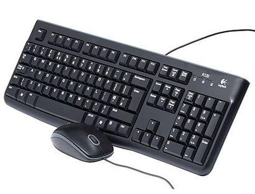 купить Logitech MK120 Black Desktop USB, Keyboard + Mouse, 920-002561 (set tastatura+mouse/ комплект клавиатура+мышь) в Кишинёве