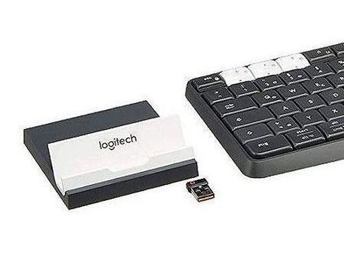 купить Logitech K375s Black Multi-Device Wireless Keyboard and Stand Combo, Graphite/OffWhite, Bluetooth, 920-008184 (tastatura fara fir/беспроводная клавиатура) в Кишинёве