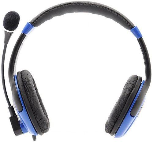 купить SVEN AP-670MV, Headphones with microphone, Volume control, 2.5m, Black/Blue в Кишинёве