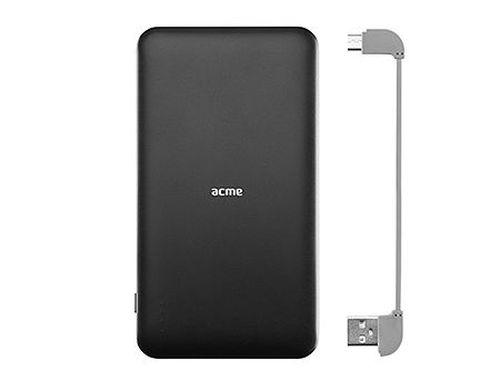 купить ACME PB18 Black Power bank, Li-polymer 10 000 mAh (37 Wh), Output 1: integrated Micro USB, DC 5 V/2.1 A, Output 2: USB type-A, DC 5 V/2.1 A (acumulator extern universal / универсальный мобильный внешний аккумулятор) www в Кишинёве