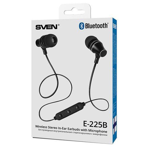 купить SVEN E-225B, Bluetooth Earphones with microphone, 20-20000 Hz, 32ohm, 0,8m, Call acceptance/Pause button, Black в Кишинёве