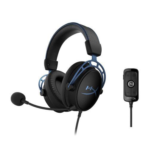 cumpără HYPERX Cloud Alpha S Headset, Black/Blue, Solid aluminium build, Microphone: detachable, Frequency response: 13Hz–27,000 Hz, Detachable headset cable length:1m+2m extension, Dual Chamber Drivers, 3.5 jack, Virtual 7.1 surround sound, Braided cable în Chișinău