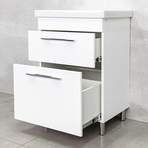 купить Prim Шкаф белый с умывальником Fare  600 в Кишинёве
