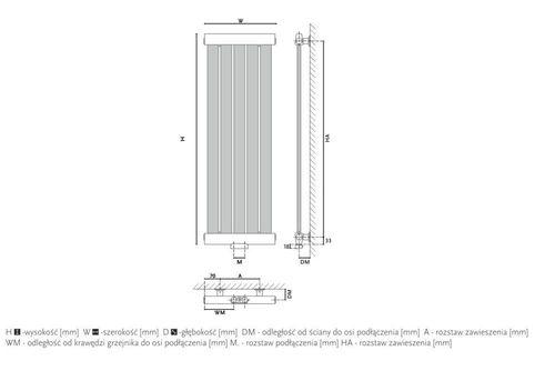 купить Дизайнерский радиатор GORGIEL GERONA AG 180/30 в Кишинёве