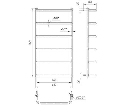 Стандарт HP 800x430/400