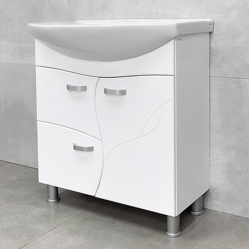 купить Interio Шкаф белый про с умывальником Zenon 750 в Кишинёве