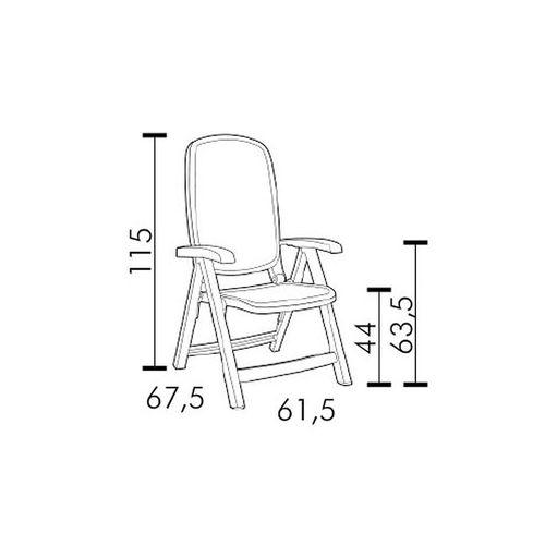 купить Кресло складное Nardi SALINA TORTORA 40290.10.000 (Кресло складное для сада и террасы) в Кишинёве