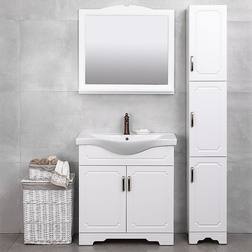 купить Classic One Шкаф белый Duo под умывальник Alba 800 в Кишинёве