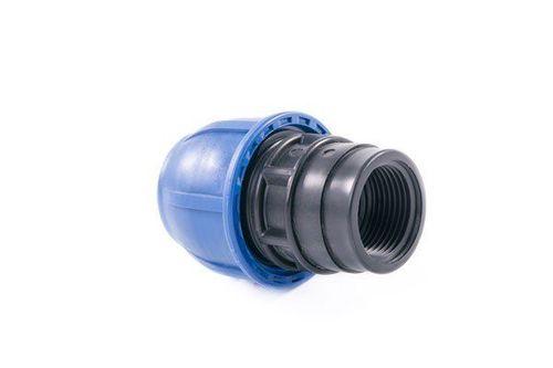 купить Муфта полиэтиленовая компрессионная с резьбой PE D32x1 F в Кишинёве