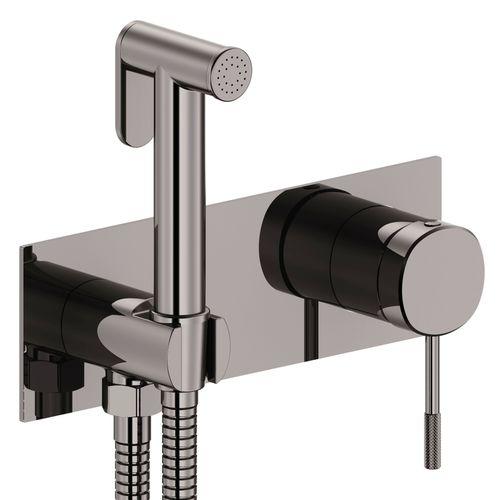 BRENTA набор: смеситель скрытого монтажа с гигиеническим душем, граф. хром   (ванная комната)
