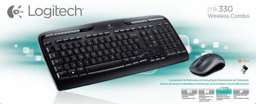 cumpără Keyboard & Mouse Logitech Wireless Desktop MK330, Multimedia, USB, Retail în Chișinău
