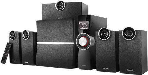 "cumpără Edifier C6XD Black, 5.1/ 80W (38W+10W+4x8W) RMS, with External Amplifier, FM Radio, USB & SD card input (MP3/WMA), LED display, Audio in: Optical & 3 analog (5.1, AUX, PC), remote control, all wooden, (sub.6,5"" + satl.(3""+3/4"")) în Chișinău"