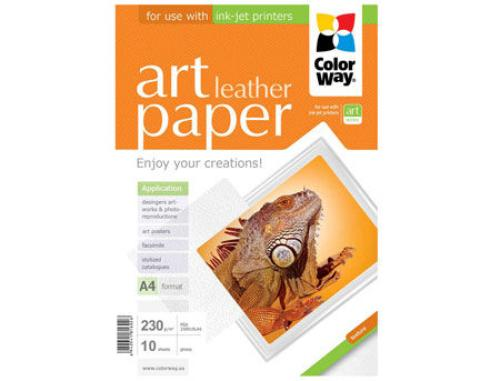 купить ColorWay Art Leather Glossy Finne Photo Paper, 230g/m2, A4, 10pack в Кишинёве