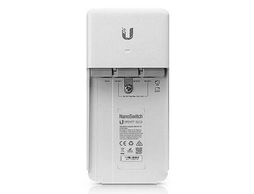 купить Ubiquiti NanoSwitch N-SW, Outdoor 4-Port PoE Passthrough Switch, 4 x 10/100/1000 Mbps RJ45 Ports, 1 x Gigabit 24V Passive PoE In Port, 3 x Gigabit 24V Passive PoE Out Ports в Кишинёве