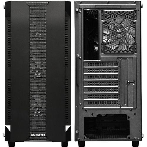 купить Case ATX Miditower Chieftec Gaming Hunter GS-01B-OP Black no PSU, 2x USB 3.1, 1x USB 2.0, Audio-out, 4x 120mm A-RGB Rainbow LED fan, Mesh front panel, Tempered glass, A-RGB Control HUB, (carcasa/корпус) в Кишинёве