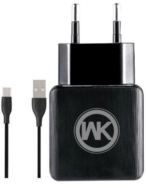 cumpără Încărcător cu fir WK Design WP-U11 Blanc Charger Micro Black în Chișinău