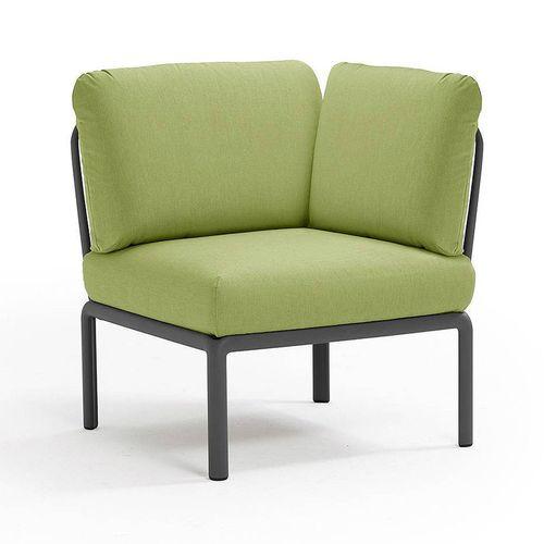купить Кресло модуль угловой с подушками Nardi KOMODO ELEMENTO ANGOLO ANTRACITE-avocado Sunbrella 40374.02.139 в Кишинёве